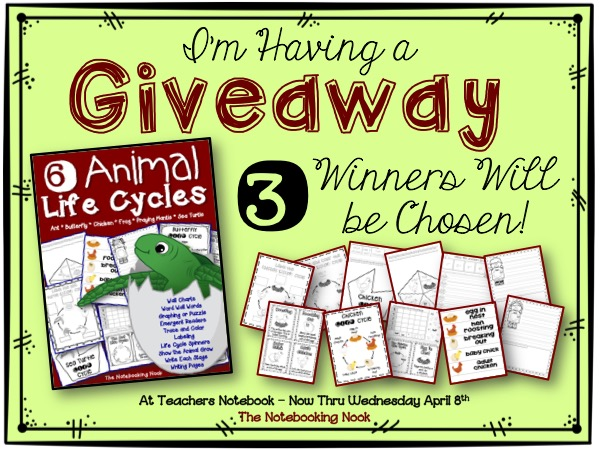 Animal Life Cycles Giveaway from The Notebooking Nook - ENDS April 8th