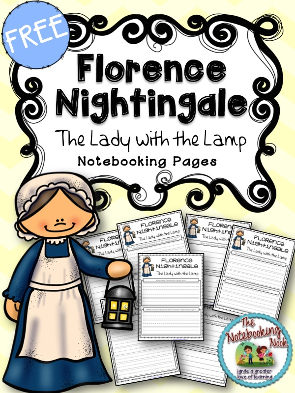 Free Florence Nightingale Notebooking Pages from The Notebooking Nook