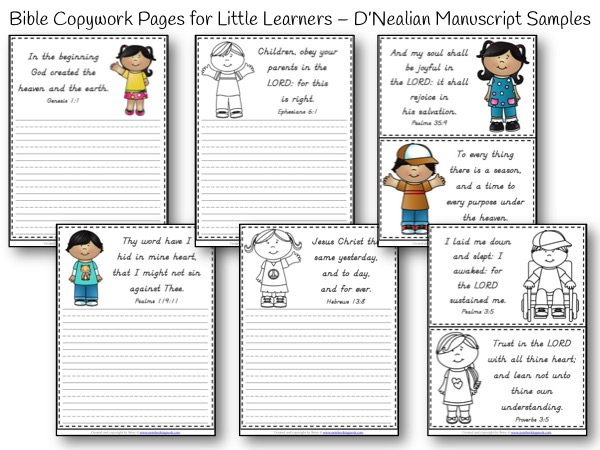 Little Learners  Bible D'Nealian  Bundle Samples