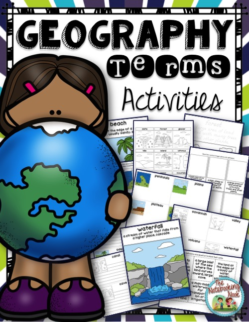 Geography Terms Activities from The Notebooking Nook