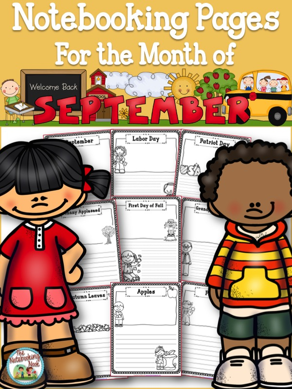 Themed Notebooking Pages for the Month of September