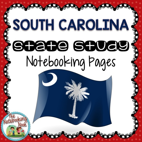 South Carolina State Study Notebooking Pages from The Notebooking Nook