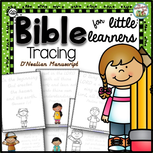 Bible Tracing for Little Learners - D'Nealian Manuscript