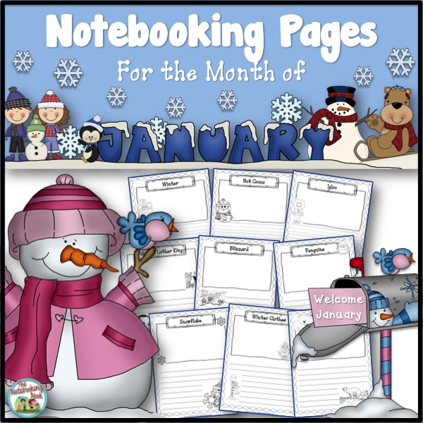 January Notebooking Pages