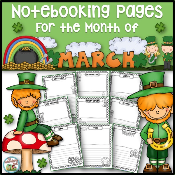 March Notebooking Pages