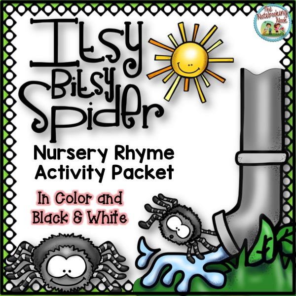 Itsy Bitsy Spider Nursery Rhyme Activity Packet