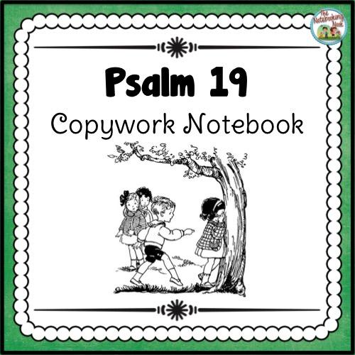 Psalm 19 Copywork Notebook