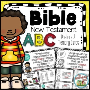 New Testament ABC's Posters and Memory Cards
