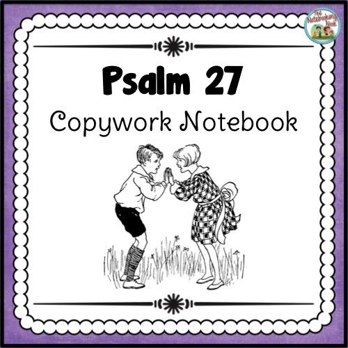 Psalm 27 Copywork Notebook