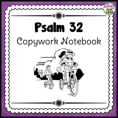 Psalm 32 Copywork Notebook