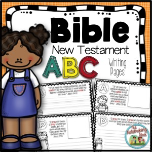 New Testament ABC's Writing Pages