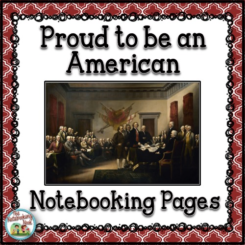 Proud to be an American Notebooking Pages