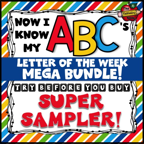 Now I Know My ABC's - Letter of the Week - Try Before You Buy - Super Sampler