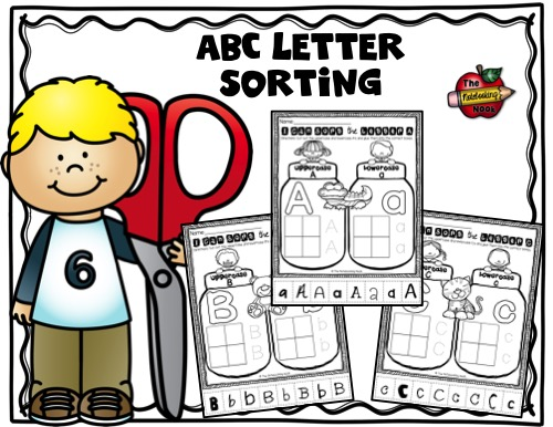 ABC Lettering Sorting Sample
