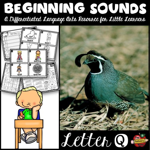 Beginning Sounds - Letter Q