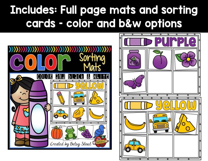 Color Sorting Mats Samples