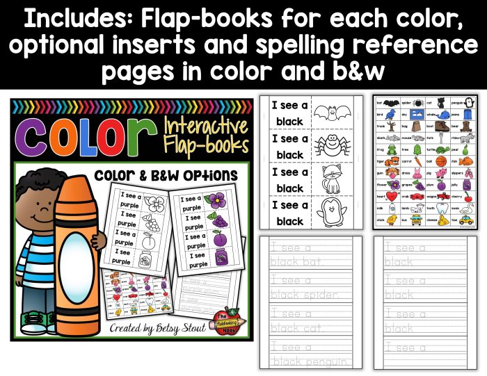Color Flap-books samples