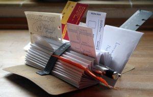 Make a Desktop Organizer Out of a Notebook