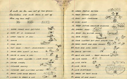 Woodie Guthrie\'s New Year\'s Resolutions | Notebook Stories