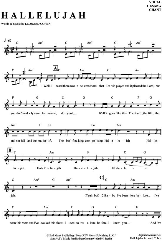 Outstanding Chords To Hallelujah Piano Images - Song Chords Images ...