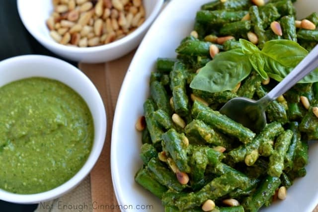 Crispy Green Beans with Pesto