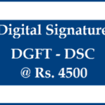 DGFT EXIM Signature dsc with 2 Years Validity only Just Rs 4500 buy