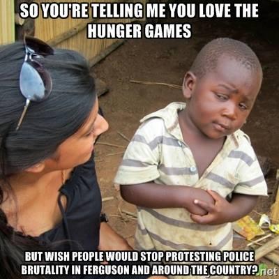 hungerg ames vs black lives matter protests
