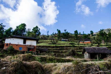 Häuser zwischen den Terassen