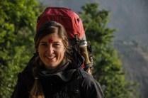 Auf dem Weg zum Bus nach Pokhara...