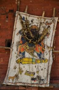 Hinduismus ist nichts für schwache Mägen: Opferdarstellung am Bairabnath Tempel, Bhaktapur