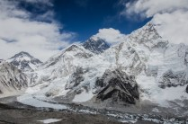 Top of the world (Everest mitte, Nuptse rechts)