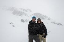 Zu viel Schnee von oben und von unten: Umkehr 300m unterhalb des Passes