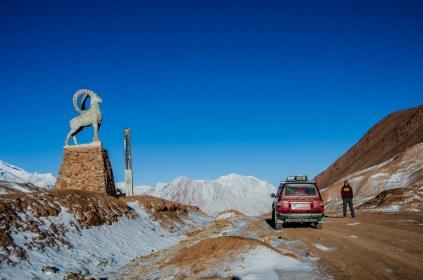 Kyzyl-Art Pass (4.382m), Grenze zwischen Tadjikistan und Kirgistan