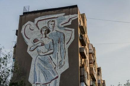 Glückliche Sowjetfamilie, Karaganda