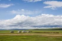 50% der Mongolen leben nomadisch und wohnen in Gers