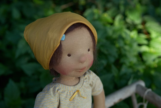 "Ebba, a 17""/ 45cm OOAK cloth doll by Atelier Björkåsa"