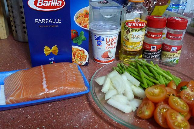 Salmon Farfalle Ingredients