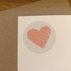 heart sticker on card - heart sticker from Rifle Paper Co.
