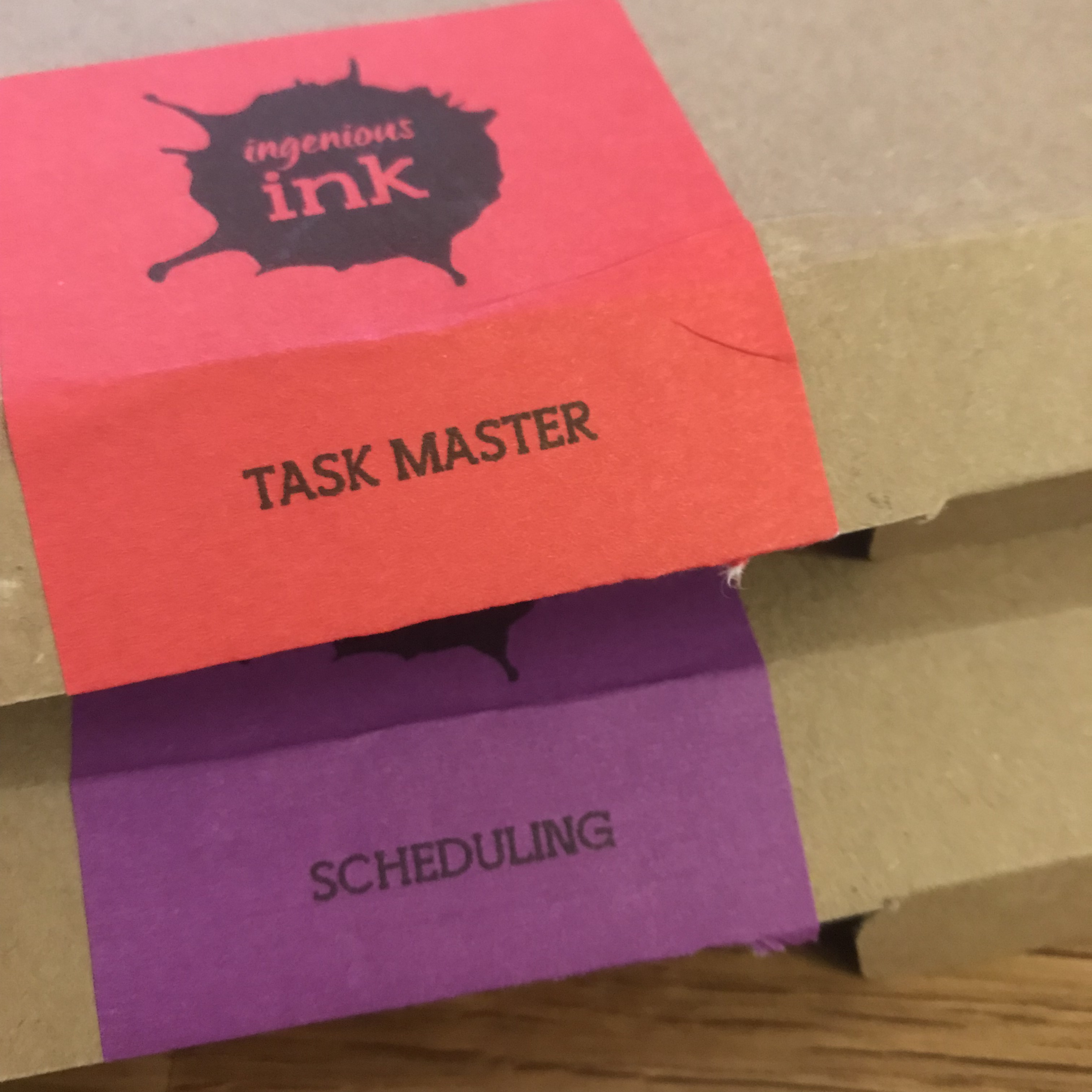 Friday evening with taskmaster ink