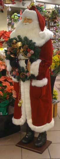 Floral Department Santa