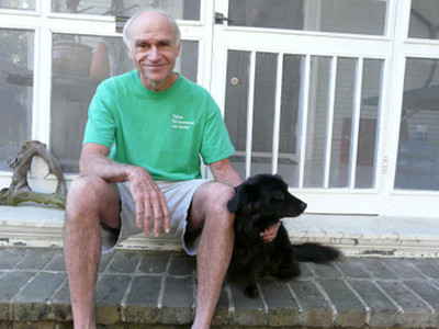 Tulane professor Oliver Houck and his dog Ms. Bear