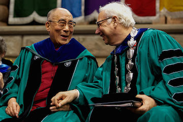 Former Tulane president Scott Cowen with the Dalai Lama.