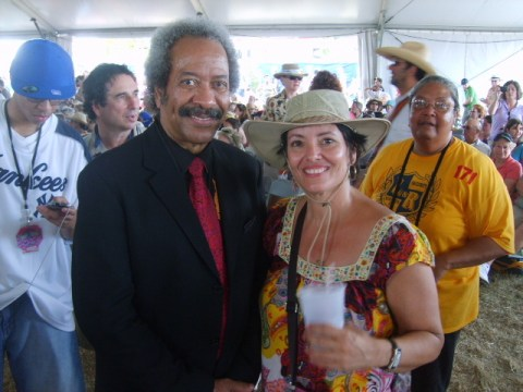 Allen Toussaint New Orleans musician at Jazz Fest