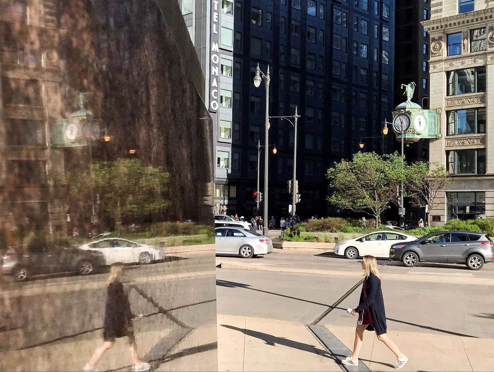 Heald Square Monument at North Wabash Street and East Wacker Drive. Photo by Rick Stachura. May 23, 2019.