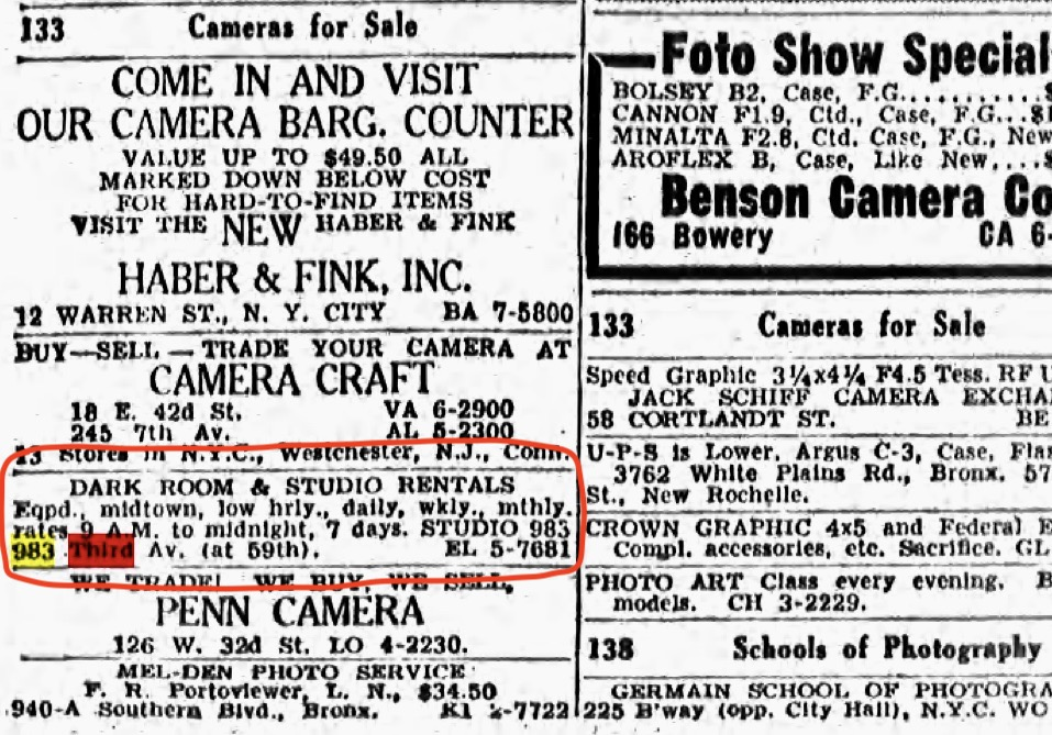 Screenshot by Rick Stachura. Courtesy of fultonhistory.com. As advertised in the New York Post. February 21, 1952.