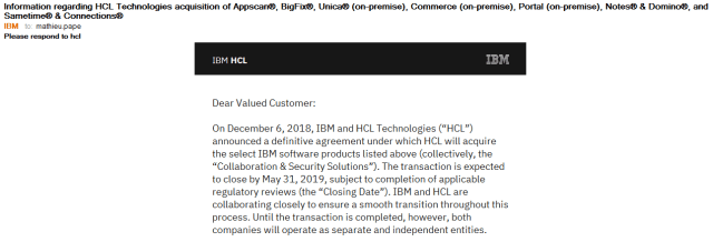 2019-05-02 20_52_37-Information regarding HCL Technologies acquisition of Appscan®, BigFix®, Unica®