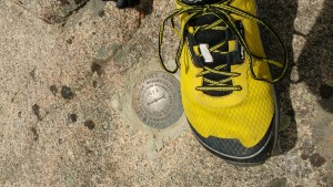 The Shadow Mountain USGS Marker. And my foot.