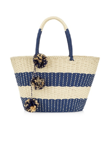 Accessorize Raffia Pom Pom Bag £29.00