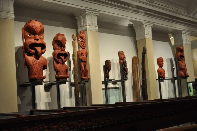 Maori Statues