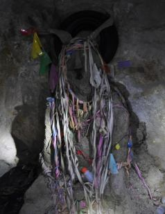 El Tio, the statue of the devil where offerings are made to protect the miners